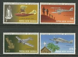 "Papua New Guinea      "" Aviation""    Set    SC# 348-51 MNH** - Papua New Guinea"