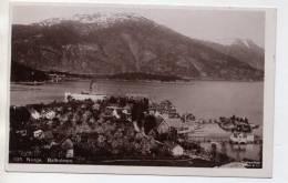 NORVEGE NORGE  - BALHOLMEN - VUE GENERALE AVEC BATEAU ( SUPERBE CARTE PHOTO ) - Norvège