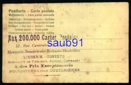"""Lyon -  12 Rue Centrale - Tampon Magasin """"Aux 200000 Cartes Postales """"- Mercerie  -  Couple D'amoureux -  Réf : 25438 - Autres"""