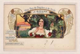 ITALIE / CAMPAGNIA / NAPLES / PUBLICITE / ALCOOL / Vins Fins De Naples Et De Sicile / J.ROUFF NAPLES - Napoli (Naples)