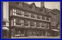 16TH Century Houses, High Bridge, LINCOLN. (C.P.S.M.) - Inghilterra