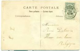 Belgique - No 53 Sur Carte Postale De Berzée (Walcourt) Vers Ham Sur Heure Du 17/08/1906, See Scan - 1893-1907 Wappen