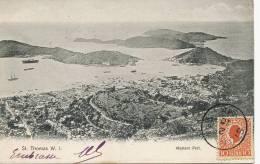 DWI Danish West Indies Virgin Islands St Thomas Western Part Postally Used - Antilles