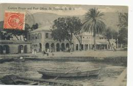 DWI Danish West Indies Virgin Islands St Thomas Custom House And Post Office Postally Used - Antilles