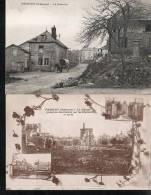 MESMONT LOT DE 2 CARTES La Croisette , Le Chateau (ardennes 08 ) - Andere Gemeenten