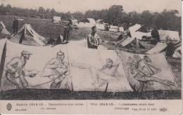Rare:1915 Propagande Antiboches Caricatures Peintes Sur Toiles De Tentes -Artilleur BOILEAU - Guerre 1914-18