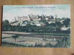 CPA Cité De CARCASSONNE (11) Vue Générale Du Sud-Ouest - Carcassonne