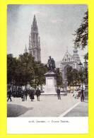 * Antwerpen - Anvers - Antwerp * (nr 2218) Place Verte, Groenplaats, Animée, Statue, église, Old Cpa - Antwerpen