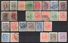 Greece @ 1902 , 1913 , 1930 , 1943 / Mi  25/34 , 39/44 I , 46/50 I , 57/58 , 67 , 69/70 / Postage Due / MH * , Used (o) - Impuestos