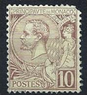 "Monaco YT 14 "" Prince Albert 1er 10c. Lilas-brun Sur Jaune "" Neuf ** - Monaco"