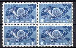 Liechtenstein 1949 Unif. 242 Quartina /Block Of 4 **/MNH VF - Unused Stamps