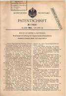 Original Patentschrift - Hugo Güldner In München , 1903 , Regelung Für Motoren , Explosionskraftmaschinen !!! - Traktoren