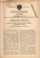 Original Patentschrift - F. Lannoy In Chatelineau Und Lüttich , 1905 , Maschine Für Ketten Und Ringe !!! - Machines