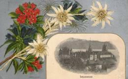 Belle Carte Photo + Illustration + Gauffrage : -LAUSANNE - - VD Vaud