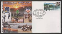 INDIA  2007  Centenary Of World Scouting  Sunrise Ceremony Cover  #  36796   Indien Inde - Scouting