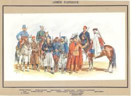 Armée D'Afrique Dont Légion EtrangèreTenues- Illustration Sur Son Cartyonnage Légendé - (21 X 29 Cm) Scan - Sciences & Technique
