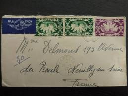 LETTRE AFFRANCHIE TOUT EN FRANCE LIBRE AVEC DAGUIN DE TAHITI ET CENSUREE 1945 OCEANIE COVER