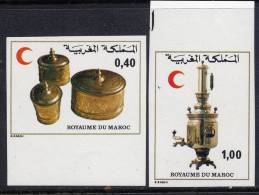 MAROC N°827/28**  NON DENTELE   CROISSANT ROUGE - Morocco (1956-...)