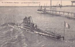 """20866 LA ROCHELLE-PALICE (France ) / Le Sous-marin """" OURSIN """" -76 B LL R -tampon Convoyeur La Palice à La Roch. - Sous-marins"""
