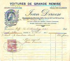 Saint Gilles 1923 - Jean Deroose - Voitures Caoutchoutées - Cars
