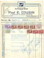 Bruxelles 1928 - Automobiles Buick - Paul E. Cousin - Vente D´une Voiture Buick - Auto's