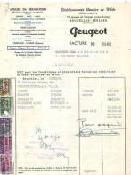 Ixelles 1952 - Automobile Peugeot - Etablissement Maurice De Wilde - Cars