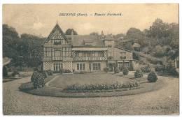 Cpa: 27 BRIONNE (ar. Bernay) Manoir Normand - France