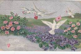 EMBOSSED GREETINGS CARD - VALENTINE - Valentine's Day