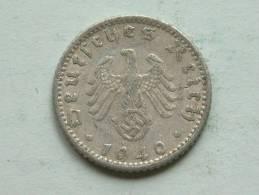 1940 D - 50 Reichspfennig / KM 96 ( Uncleaned - For Grade, Please See Photo ) ! - [ 4] 1933-1945 : Troisième Reich