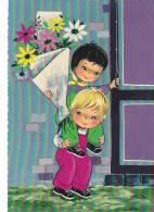 20873 Enfant Fleur, Dessin 1970 -Kruger 900.97 - Année 1970