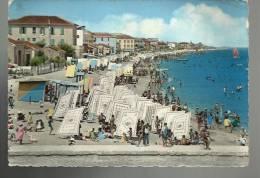 Cartolina  Di Bellaria Ora Del Bagno La Ridente Spiaggia Romagnola 1958 - Rimini