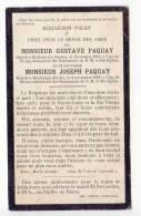 D9619 - Faire-part - Décès - Gustave Et Joseph PAQUAY - Hodister (La Roche) - Havelange (Harzé - Aywaille) - Overlijden