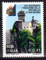 PIA - ITALIA - 2001 : 17° Centenario Della Fondazione Della Repubblica Di San Marino  - (SAS  2553) - 2001-10:  Nuovi