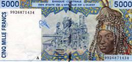 IVORY COAST 5,000 5000 FRANC West African States 1998 P-113a - Côte D'Ivoire