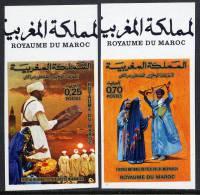 MAROC N°703/04  NON DENTELE  FOLKLORE - Maroc (1956-...)