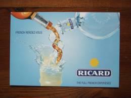 Ricard Alcoolich Drink Carte Postale - Pubblicitari