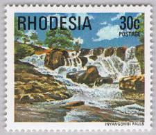 Rhodesia 1978 Inyangombi Falls Waterfall Wasserfall ** MNH - Zimbabwe (1980-...)