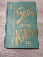 Briefmarkenkatalag Gebrüder Senf  Leipzig 1937 Europa - Altri
