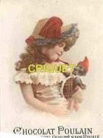 Chromo Poulain, Fillette Avec Une Marionette - Poulain