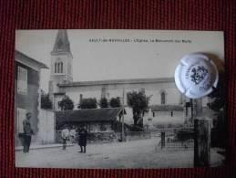 SAULT DE NAVAILLES PYRENEES ATLANTIQUES L EGLISE LE MONUMENT DES MORTS - Autres Communes