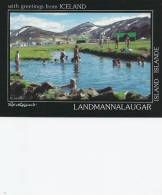 Iceland Swimming In The Natural Hot Water In Landmannalaugar.  B-2557 - Iceland