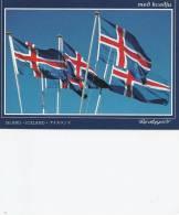 Iceland     Island    Flags  B-2591 - Postcards