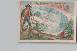 """Chromo """"A La Grande Maison"""" Habillements Hommes & Enfants Reims Soissons St-Quentin - N°23 De La Série 24 Billets - Chromos"""