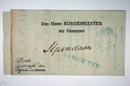Poststuk, 1836,  Amsterdam Naar Ilpendam VS:K:54c,Na Posttijd, Opsporingsbericht Pamflet - Marcophilie