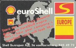 Shell/Oil/Gas/Petrole/World Map - Bulgaria Phonecard - Petrole