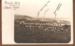 PHOTO D UN GROUPE DE MILITAIRES DEVANT TUNIS EN 1914 - Guerra, Militares