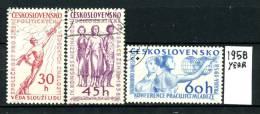 CECOSLOVACCHIA - TCHECOSLOVAQUIE - Serie Completa - Year 1958 - Viaggiati - Traveled - - Czechoslovakia