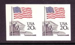 U.S. 1895d  IMPERF ERROR    **  FLAG - Errors, Freaks & Oddities (EFOs)