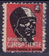 GUERRA CIVIL - BARCELONA - SUBSIDIO AL COMBATIENTE - EDIFIL Nº 37 - - Viñetas De La Guerra Civil