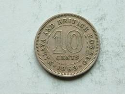 MALAYA And BRITISH BORNEO 1953 - 10 CENTS / KM 2 ( Uncleaned - For Grade, Please See Photo ) ! - Kolonies